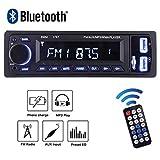 Auto Radio MP3 von POMILE, Single Din Autoradio (Bluetooth, USB, SD, AUX Anschluss) Auto MP3 Player, Freisprechfunktion und integriertes Mikrofon … (Blau)
