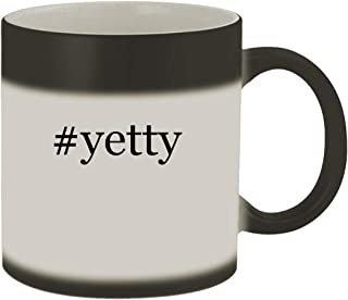 #yetty - Ceramic Hashtag Matte Black Color Changing Mug, Matte Black