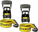 "Best Ratchet Straps - Stanley S1007 Black/Yellow 1.5"" x 16' Ratchet Tie Review"