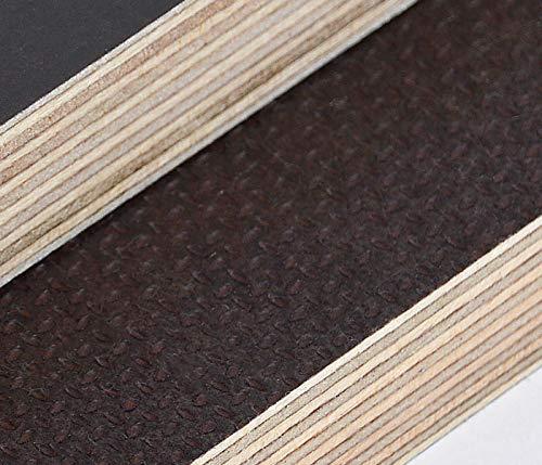 Preisvergleich Produktbild 18mm Multiplex Zuschnitt Siebdruckplatten Multiplexplatten Zuschnitte Melaminbeschichtet Birke Bodenplatte Holz Braun Grau (Breite 56 cm,  Länge 60 cm)