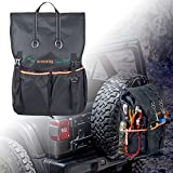 Spare Tire Trash Bag, Sresk 40' Tire Large Capacity Spare Tire Bag for Wrangler Cargo Storage Bag, Tool & Gear for SUV Trunk Organizer & Truck Cargo Bag Outdoor Recovery Gear (Orange Piping)