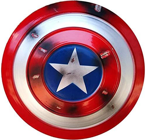 MMCC Capitn Amrica versin Rayada Shield Metal Shield 1 a 1 Movie Edition Avengers Pandheld Precs Model Decoration - Tamao Disfraz Accesorio Versin Rayada (Color : Scratched Version)
