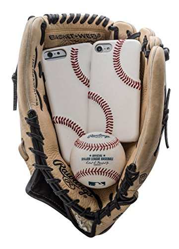 mcmadley Leather Baseball Phone Case for iPhone 6 and 6s Made with MLB Baseball Leather and Raised Stitch, Ultra Thin, Protective Grip, Light Weight, Perfect Apple iPhone Fit and Finish