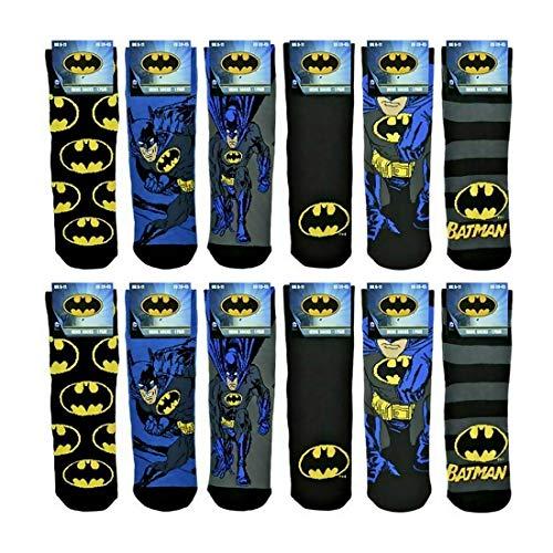 Mens Character Socks 12 Paar – Herren-Socken mit Batman-Motiv