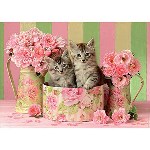 España Importó Rompecabezas Rose Kitten 500 Piezas Adulto Rompecabezas 48 * 34cm