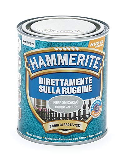 Hammerite Direttamente Sulla Ruggine Ferromicaceo Grigio Antico 0.75 L