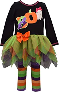 Bonnie Jean Girl's Halloween Outfit - Boo Leggings Set for Baby Toddler and Little Girls