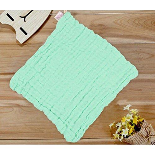 MXJ61 Bavoirs Mouchoir Bébé Coton Gaze Super Doux Serviettes de Bain ( Couleur : Vert , taille : 5 Pcs/Set )