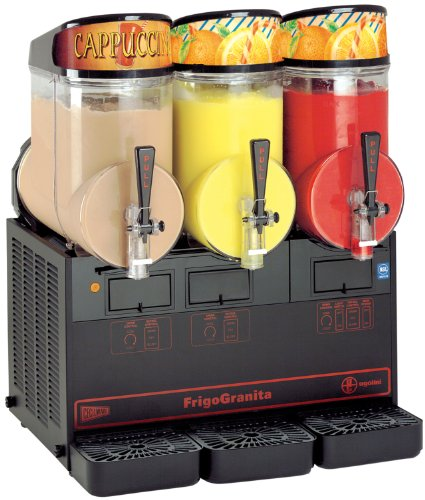 Why Choose Grindmaster-Cecilware NHT3ULBL FrigoGranita 3 Bowls in 2.5-Gallon Slush Dispenser, Black