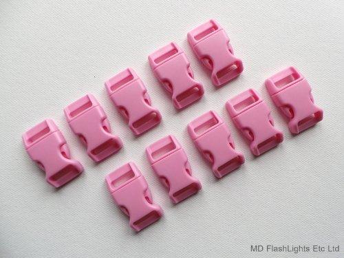10 x Rose 15 mm 5/8 profilée incurvée Quick Release Paracord Bracelet de survie Boucles Idéal pour bushcraft Survival