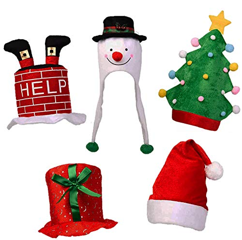 THE TWIDDLERS 5 Festive Party Hats - Great for...