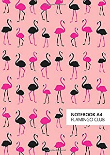 Flamingo Club Notebook - A4: (Salmon Edition) Fun notebook 192 lined pages (A4 / 8.27x11.69 inches / 21x29.7cm)