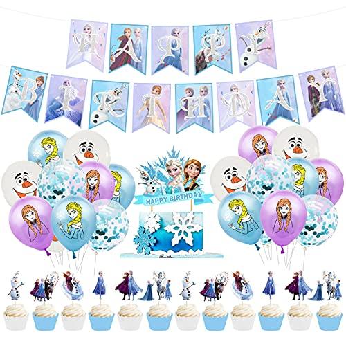 Frozens Palloncini Addobbi Festa Compleanno Bambini con Decorazioni Compleanno Kit di Palloncini per Feste Palloncini in Lattice Decorazioni per Feste di Compleanno