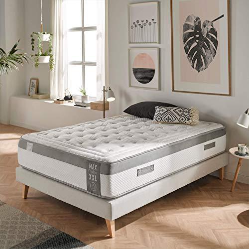 Dreaming Kamahaus Colchón MAX Comfort XXL con ViscoGel-Grafeno 180x220 cm. | Gama Alta | Sistema Comfort Plus 8cm | Alta adaptabilidad y Confort | Antiestrés | Altura 31cm |