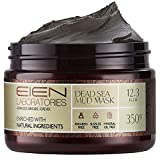 EIEN Laboratories Natural Dead Sea Mud Mask for Face - Acne, Oily Skin and Blackheads, Pore Minimizer Face Mask for Radiant, Moisturized Skin, for Men and Women - 12.34 Ounce