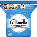 Cottonelle FreshCare Flushable Wipes for Adults, Alcohol Free, 252 Wet Wipes per...