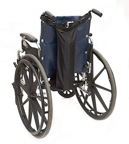 Rziioo Rollstuhl-Sauerstofftankhalter mit Schnallen, passend für D- und E-Tanks, wasserdicht, schwarz