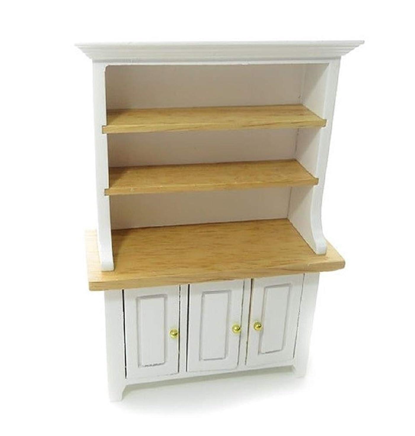 豚肉チューリップ守るドールハウスホワイト&ライトオーク3ドアドレッサーダイニングルームキッチン家具