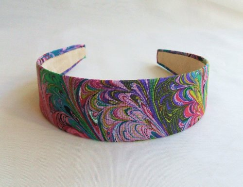 Fun Feather Purple Headband,Made in America. by Gifts and Beads