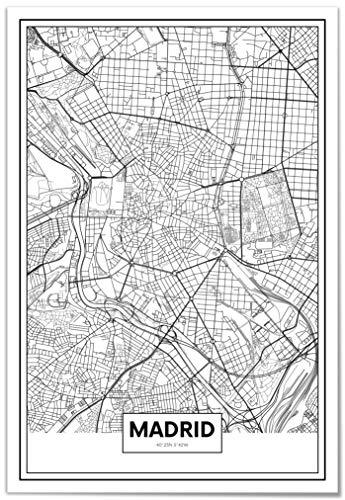 Panorama Póster Mapa Madrid 35 x 50 cm   Impreso