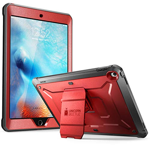SUPCASE Unicorn Beetle Pro Series Case Designed for iPad 9.7 2018/2017, with Built-in Screen Protector & Dual Layer Full Body Rugged Protective Case for iPad 9.7 5th / 6th Generation(MetallicRed)