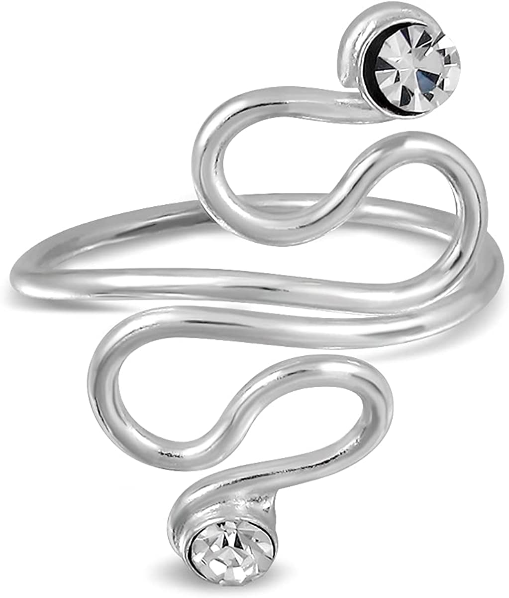 WithLoveSilver Baltimore Mall Sterling Ranking TOP9 Silver Spiral Twist Wire C with Swirls 2