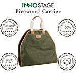 INNO STAGE Canvas Log Carrier Bag,Waxed Durable Wood Tote,Fireplace Stove Accessories,Extra Large Firewood Holder with… 5