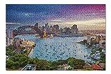 Sydney, Australia - Cityscape with Harbour Bridge & Skyline During Sunset 9027797 (Premium 500 Piece Jigsaw Puzzle for Adults, 13x19)