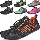 JACKSHIBO Zapatos descalzos para hombre y mujer, zapatos de verano para correr, de secado rápido, transpirables, zapatillas de fitness, antideslizantes, para trekking o trail, color, talla 36 EU