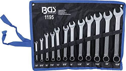 BGS 1195 | Jeu de clés mixtes | en pouce | 1/4' - 15/16' | 12 pièces