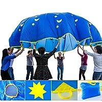 プレイパラシュート スポーツ キッズ プレイマット  子供 おもちゃ 遊び傘 スポーツ 屋外の活動 訓練器具 屋外ゲーム 直径1.8M 持ち運び 室外・庭・遠足にパラシュートの遊び
