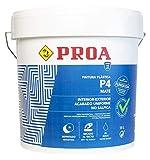 Pintura plástica interior-exterior mate P4, Gran cubrición, Paredes Techos Fachadas 23 KG