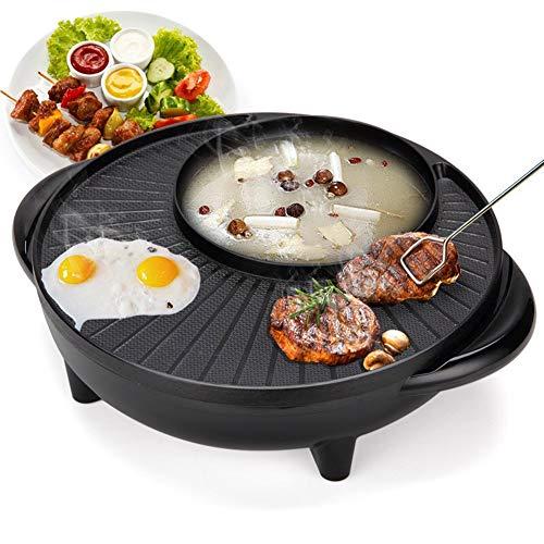 BBQ Hot Pot 2018 nuovo piatto di pesce alla griglia multi-funzione elettrico Hot Pot mandarino anatra pentola Hot Pot coreano Hot Pot barbecue macchina barbecue griglia senza fumo