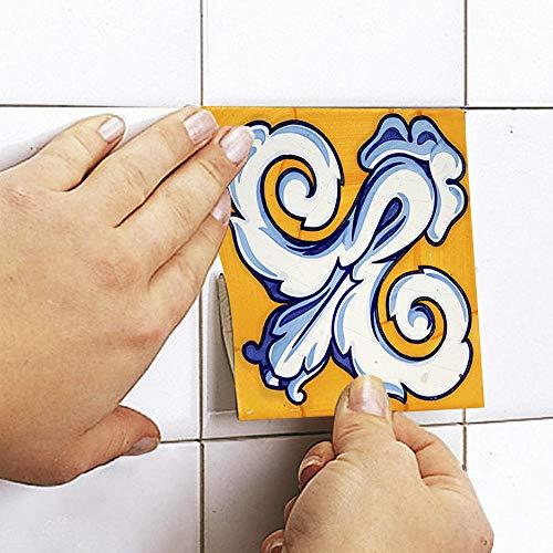 Sticker Tile Stickers Talavera Decals Talavera Traditional For Kitchen Kitchen Backsplash Pack With Peel & Stick Vinyl Adhesive Tiles(Set 12 Units)