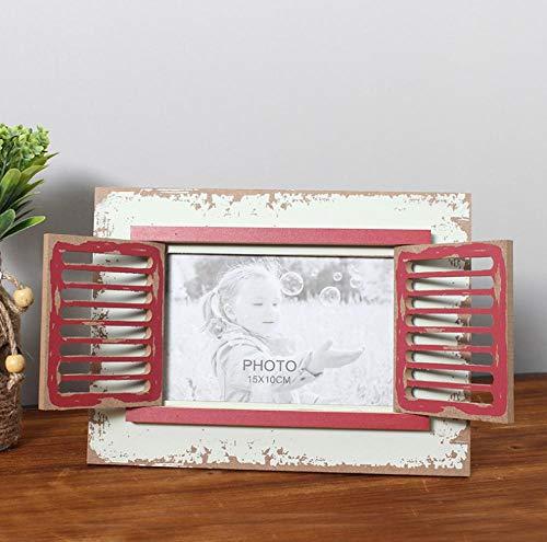 Fotoalbums familiefotolijst van knutselen 6 inch raam creatieve land vintage fotolijst creatieve houten handwerk geschenken home desktop decoratie