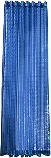 charmsamx Wave Semi Sheer Curtains Plaid Pattern Tab Top Sheer Drapery Strip Window Treatment for Living Room Bedroom 78 x 39 Inch Window Sheer Drapes Modern Voile Drape Valance