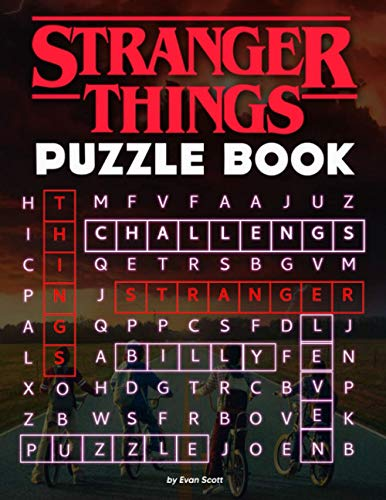Stranger Things Puzzle Book: Fabulous Gift For Those Who Lov