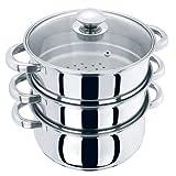 Vaporizador de cocina de acero inoxidable con 3 niveles de
