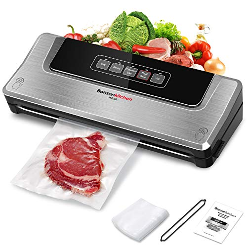 Food Saver Vacuum Sealer Machine For Food Vaccume Sealer Machine With Vaccume Sealer Machine Kits Protect food From Dehydration n Freezer BurnSous Vide DryMoist For Meat or Wet Food In Home Kitchen