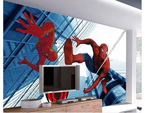 WallDiy papel pintado infantil Spiderman 3 d mural para habitación de niños papel de seda pared de fondo