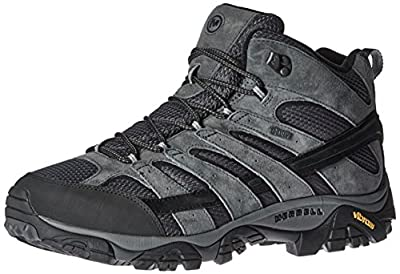 Merrell Men's Moab 2 Mid Waterproof Hiking Boot, Granite, 10 M US