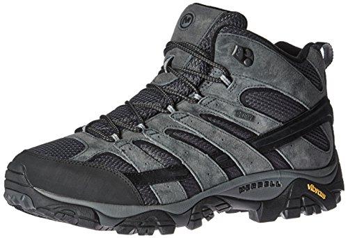 Merrell Men's Moab 2 Mid Waterproof Hiking Boot, Granite, 9 2E US