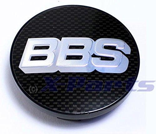 BBS BB0924467 - Tapa central con logo para llantas de aleación BBS, fibra de carbono, cromado, logo plateado, 70mm, para barra de extensión, instalación con anillo a presión
