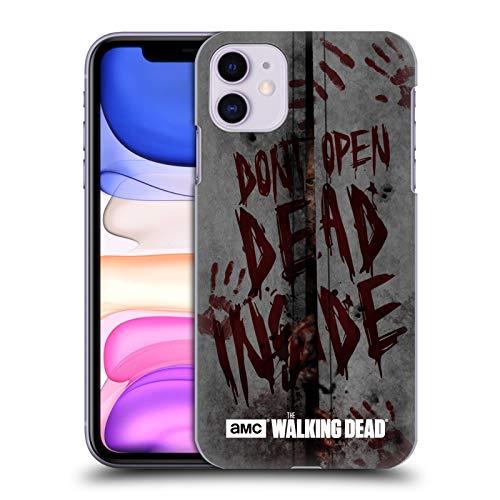 Head Case Designs Licenciado Oficialmente AMC The Walking Dead Muerto Dentro Tipografía Carcasa rígida Compatible con Apple iPhone 11