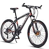 Bicicleta de Montaña para Adultos de 27,5 Pulgadas Bicicleta de Montaña para Todo Terreno de 30 Velocidades con Horquilla de Suspensión Bicicleta de Montaña, Bicicletas de Aleación de Aluminio,Rojo