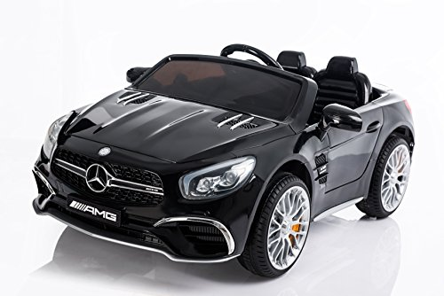 RC Kinderauto kaufen Kinderauto Bild 1: Kinderelektroauto - Mercedes SL 65 AMG - 2 Motoren - Kinderfahrzeug Lizenz Fernbedienung -Schwarz*