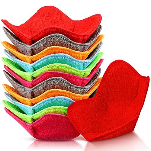 12 Pieces Microwave Safe Bowl Huggers Heat Resistant Bowl Holder Polyester Hot Bowl Holder Plate...