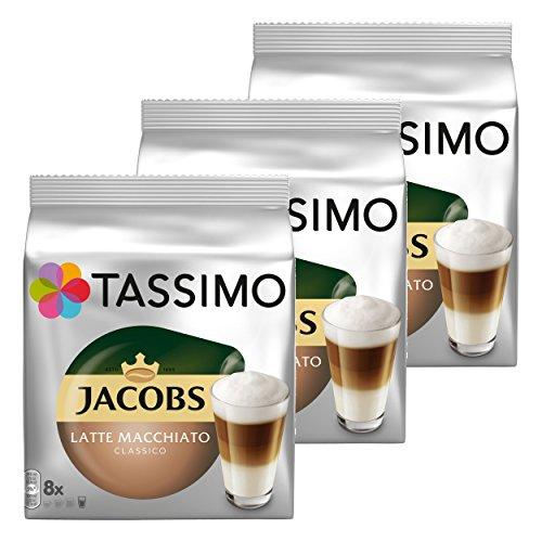 Tassimo Jacobs Latte Macchiato Classico, Kaffee, Milchkaffee, Kapsel, 48 T-Discs (24 Portionen)