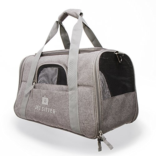 Jet Sitter Super Fly Airline Approved Pet Carrier Bag - TSA Airplane Travel Carriers Cat Dog Small Dogs