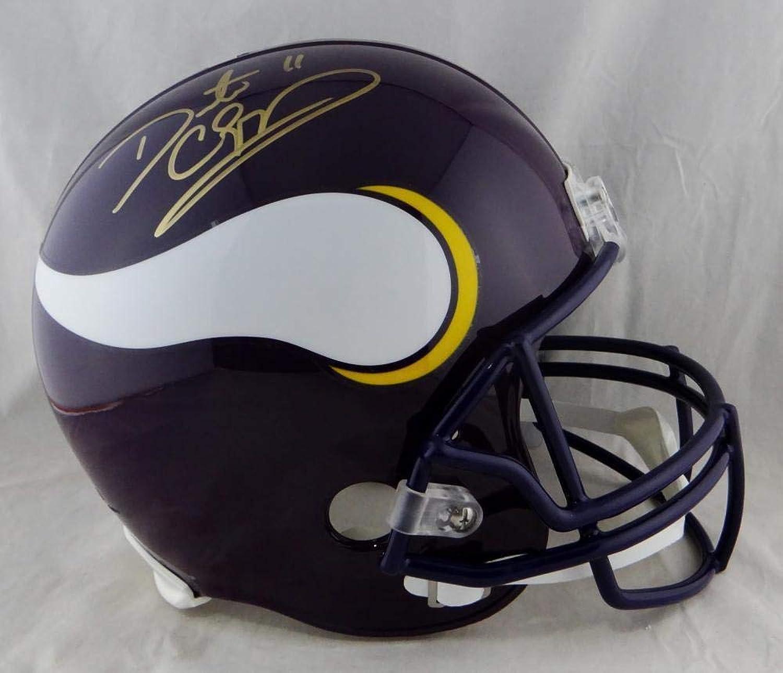 Autographed Daunte Culpepper Helmet  Minn F S 83 01 Beckett Auth gold  Beckett Authentication  Autographed NFL Helmets